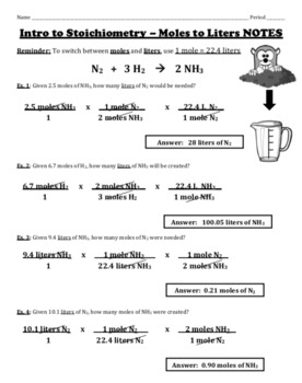 Mole to Liter Stoichiometry (Mole to Volume) - Detailed Ex