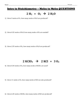 Mole to Mole Stoichiometry - Detailed Examples and Practice Problems