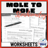 Mole to Mole Stoichiometry Worksheets   Printable and Digital