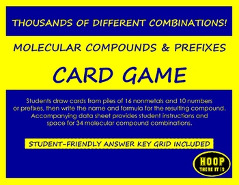 Molecular Compounds and Prefixes Card Game