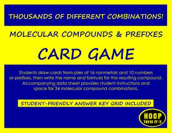 Molecular Compounds and Prefixes Card Game