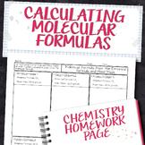 Molecular Formula from Empirical Formula and Molar Mass Homework Worksheet
