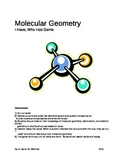 """Molecular Geometry Game: """"I have, Who has"""""""