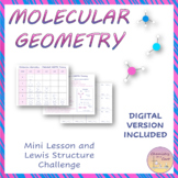 Distance Learning – VSEPR Molecular Geometry – Lesson and