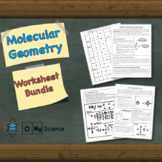 Molecular Geometry and Lewis Dot Structures Worksheet Bundle (Distance Learning)
