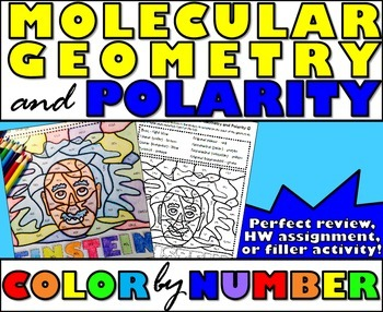 molecular geometry and polarity color by number by msrazz chemclass. Black Bedroom Furniture Sets. Home Design Ideas