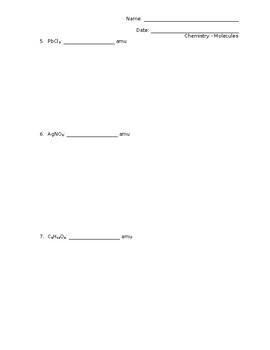 Molecular Mass Practice Problems