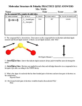 Molecular Shapes Worksheets & Teaching Resources   TpT