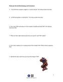 Molecule World DNA Binding Lab Worksheet for DNA Binding Lab iPad app