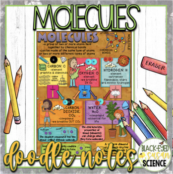 Molecules Doodle Notes (NGSS Aligned)