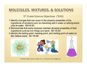 Molecules Mixtures Solutions Lab