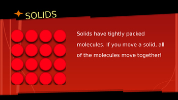 molecules solid liquid gas powerpoint by kaylee walk tpt