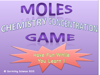 Moles Chemistry Concentration Game Review