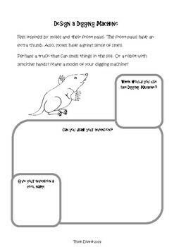 Moles Freebie - STEAM, Biomimicry