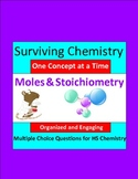 Moles & Stoichiometry - Engaging Multiple Choice Question Sets for HS Chemistry