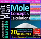 Moles, Stoichiometry, Percent Composition Topic Bundle: 3