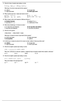 Moles & Stoichiometry Teacher's Solution