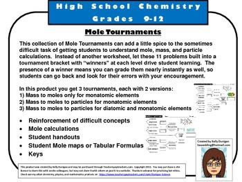 Moles Tournaments to Make Mole Calculations More Fun!