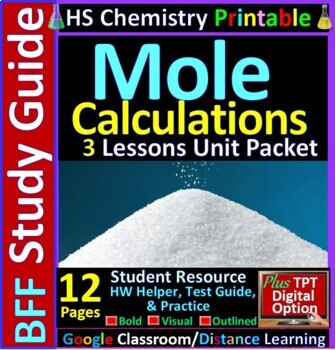 Moles and Stoichiometry BFF: Homework Helper and Test Prep Guide