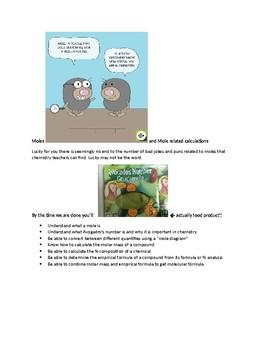 Moles and mole Calculations