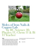 Moles of Iron Nails & Copper Lab