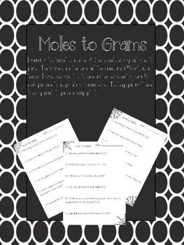 Moles to Grams Worksheets