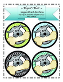 Dog -Theme Circle Nameplate Cut-Out