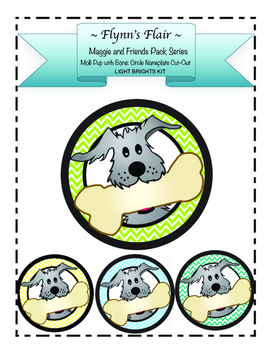 Molli Pup with Bone Cut-Outs Kit in Light Bright Colors