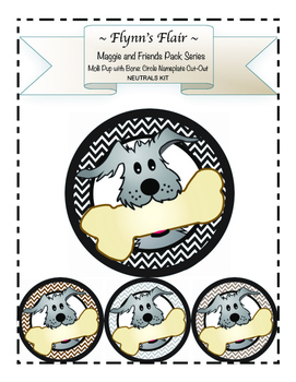 Molli Pup with Bone Cut-Outs Kit in Neutral Colors