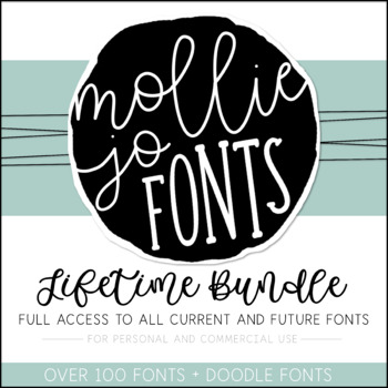 Mollie Jo Fonts: Growing BUNDLE