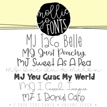 Mollie Jo Fonts: Volume Seven
