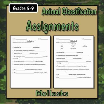Mollusks Teacher Notes & Assignment