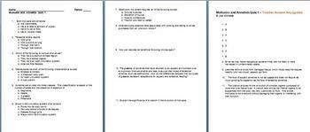 Mollusks and Annelids Quiz 1