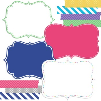 Digital Papers and Frames Molly Jumbo Set