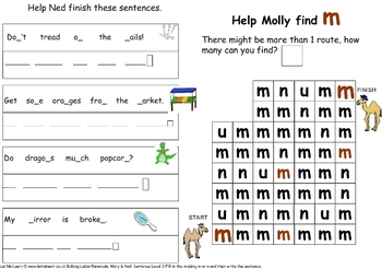 Molly and Ned M N Letter confusion Pack