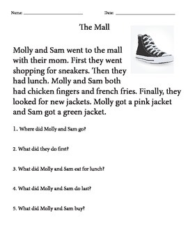 Molly and Sam go to the Mall