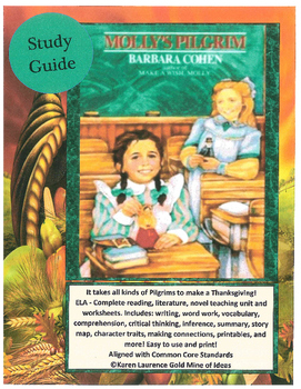 Molly's Pilgrim by Barbara Cohen ELA Study Guide Teaching Unit