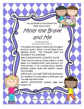 Molly the Brave and Me - Fun Activities to accompany the Open Court story