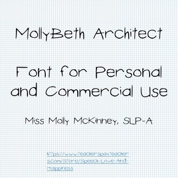 MollyBeth Architect- Font for Personal and Commercial Use