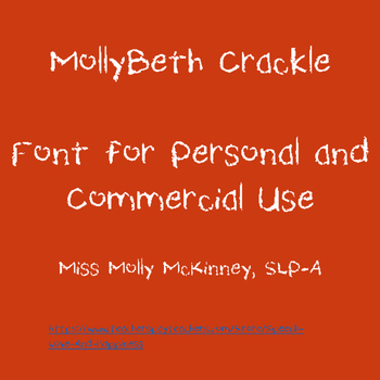 MollyBeth Crackle- Font for Personal and Commercial Use