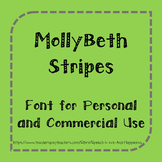 MollyBeth Stripes- Font for Personal and Commercial Use