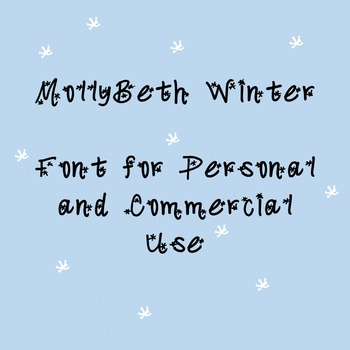 MollyBeth Winter- Font for Personal and Commercial Use