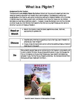 Molly's Pilgrim Activity