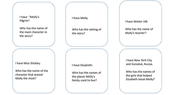 Molly's Pilgrim I Have Who Has Activity