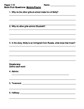 Molly's Pilgrim Literature Guide