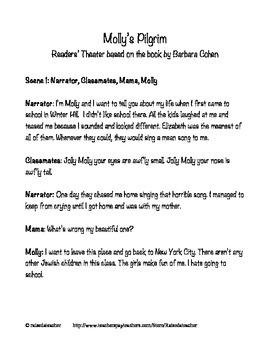 Molly's Pilgrim- Readers' Theater, Quiz, Activities