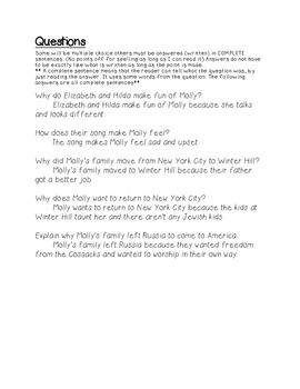 Molly's Pilgrim Study Guide 1
