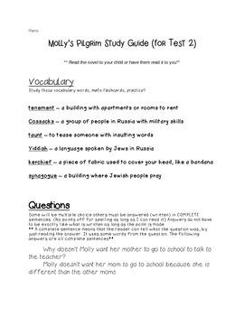 Molly's Pilgrim Study Guide 2
