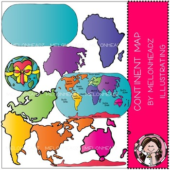 World continent clip art - by Melonheadz