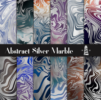 Molten Silver Digital Paper, Silver Abstract Patterns, Gradient Backgrounds